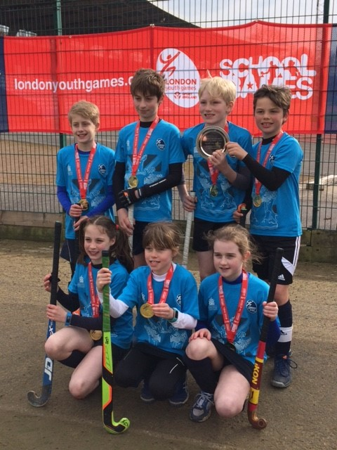 The victorious hockey team after winning the London Youth Games 2017.